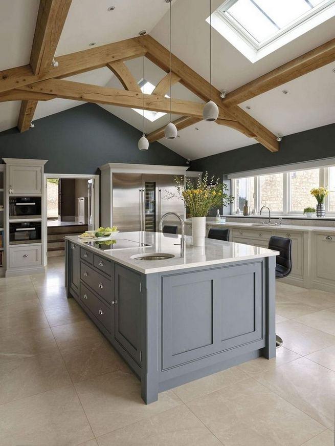 22 Stunning Farmhouse Style Cottage Kitchen Cabinets Ideas 05