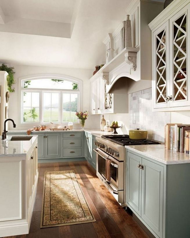 22 Stunning Farmhouse Style Cottage Kitchen Cabinets Ideas 13