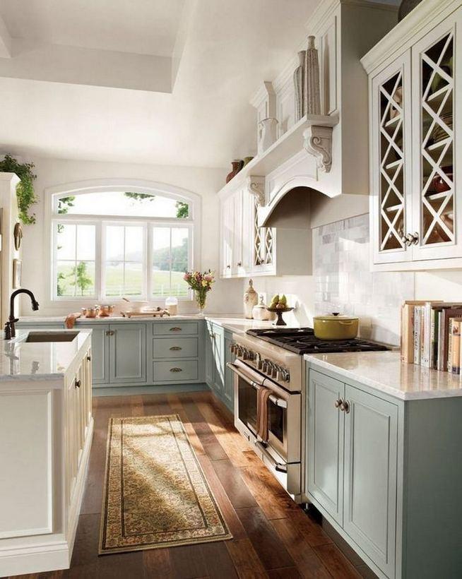 22 Stunning Farmhouse Style Cottage Kitchen Cabinets Ideas 13