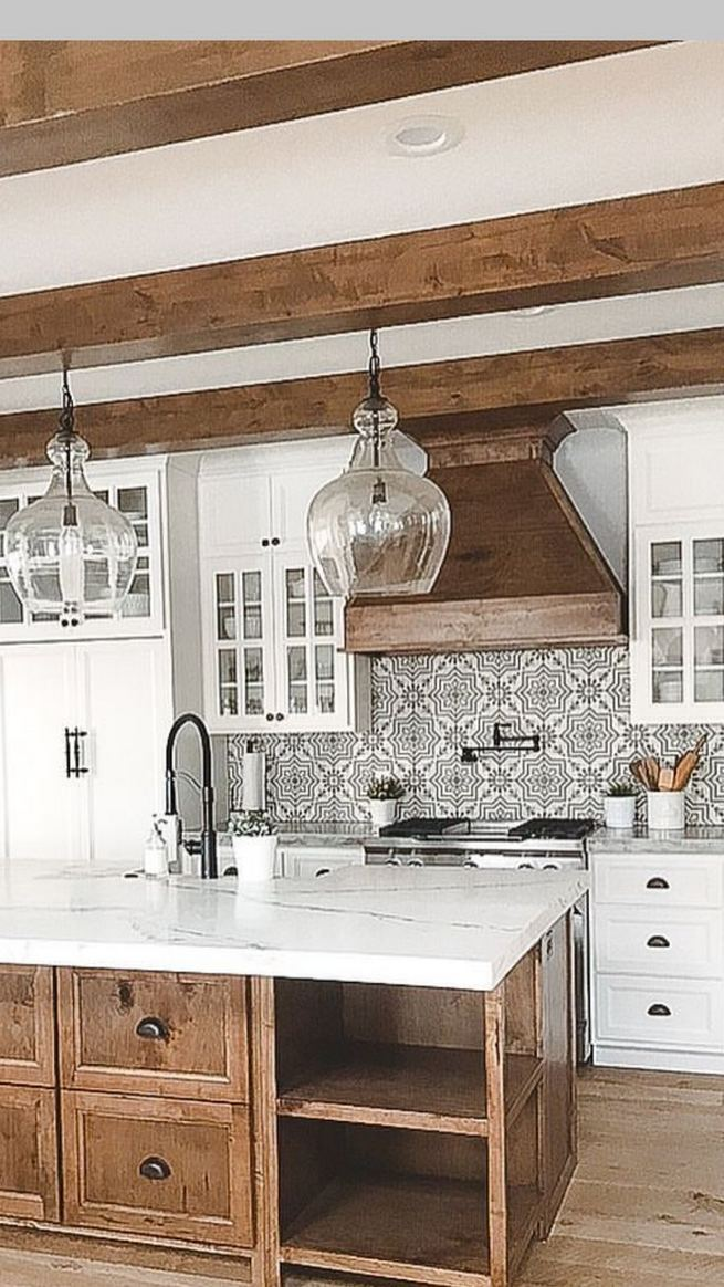 22 Stunning Farmhouse Style Cottage Kitchen Cabinets Ideas 36