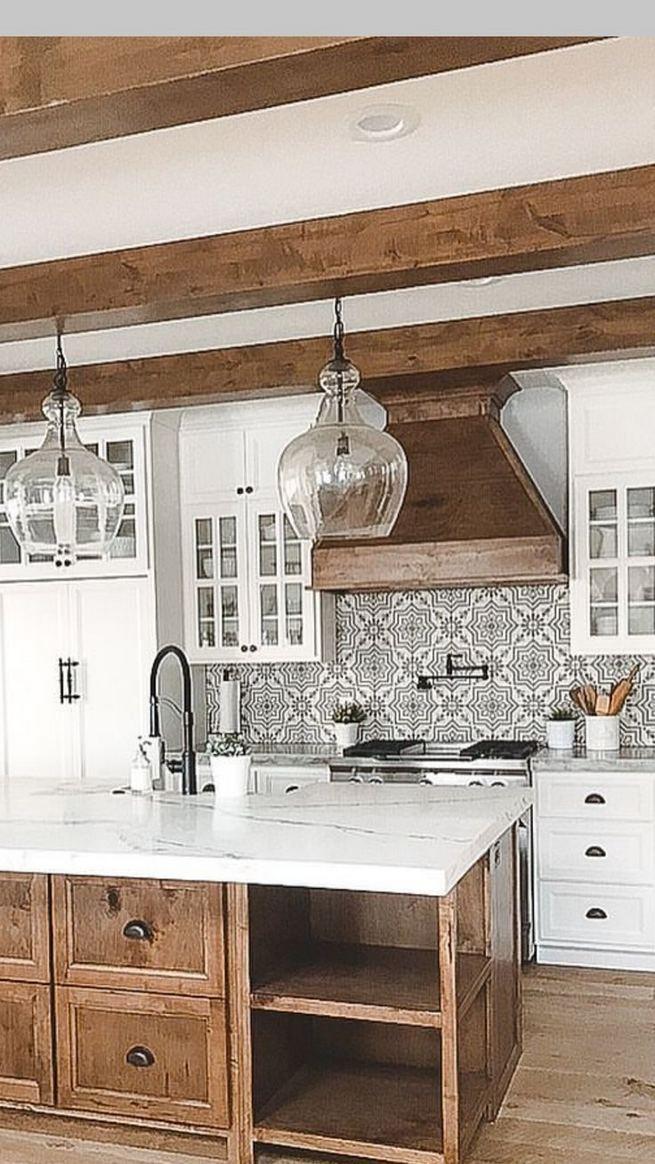 22 Stunning Farmhouse Style Cottage Kitchen Cabinets Ideas 36