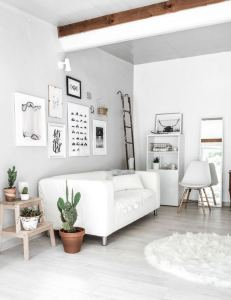 12 Cozy Soft White Couch Design Ideas For Small Living Room 01