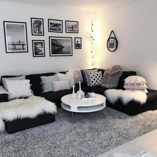 12 Cozy Soft White Couch Design Ideas For Small Living Room 07