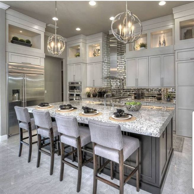 12 Stylish Luxury White Kitchen Design Ideas 20