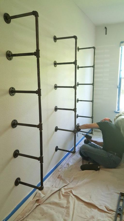 13 Creative DIY Pipe Shelves Design Ideas 13