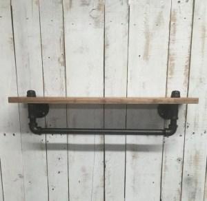 13 Creative DIY Pipe Shelves Design Ideas 16