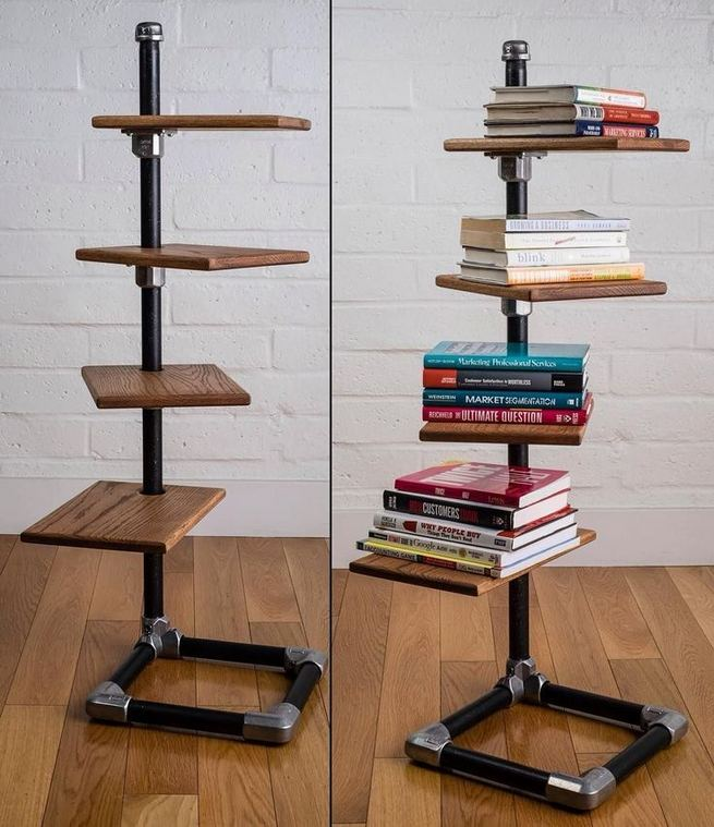 13 Creative DIY Pipe Shelves Design Ideas 28