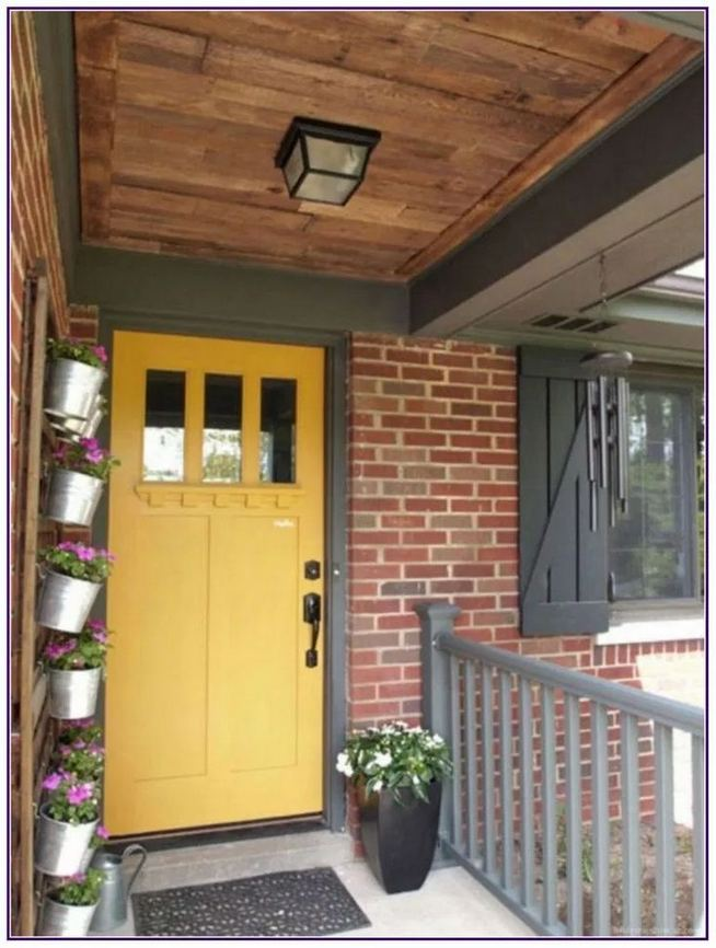 13 Fantastic Yellow Brick Home Decor Ideas For Front Door 03