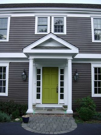 13 Fantastic Yellow Brick Home Decor Ideas For Front Door 05