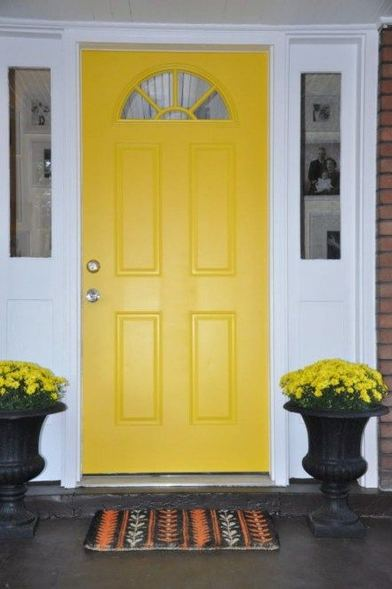 13 Fantastic Yellow Brick Home Decor Ideas For Front Door 08