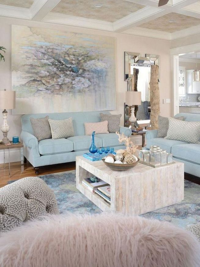 13 Inspiring Coastal Living Room Decor Ideas 30