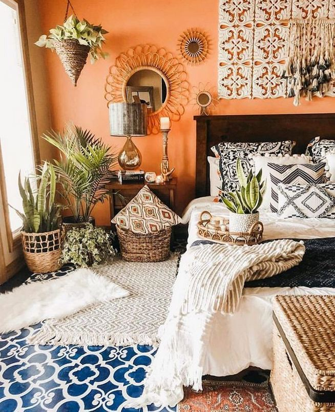 14 Brilliant Bohemian Bedroom Design Ideas 15