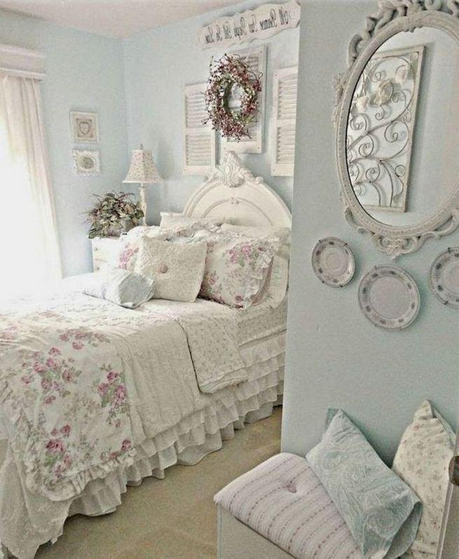 14 Comfy Shabby Chic Bedrooms Design Ideas 27
