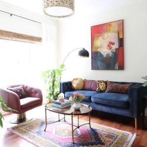 14 Cozy Bohemian Living Room Decoration Ideas 04