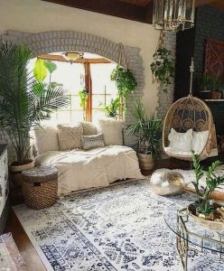 14 Cozy Bohemian Living Room Decoration Ideas 29