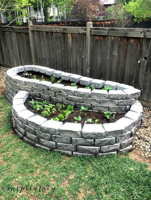 14 Simple Raised Garden Bed Inspirations Backyard Landscaping Ideas 05