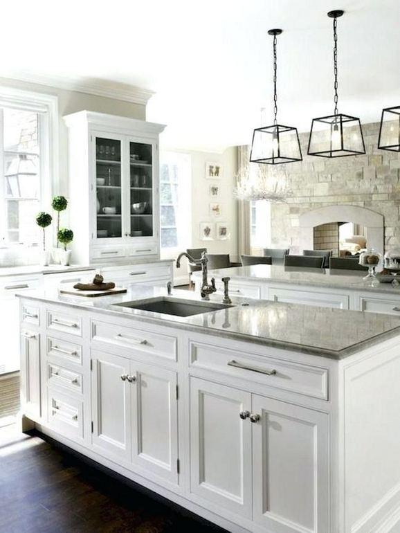 15 Incredible Farmhouse Gray Kitchen Cabinet Design Ideas 11