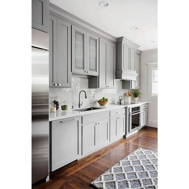 15 Incredible Farmhouse Gray Kitchen Cabinet Design Ideas 18
