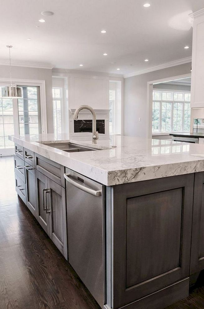 15 Incredible Farmhouse Gray Kitchen Cabinet Design Ideas 21