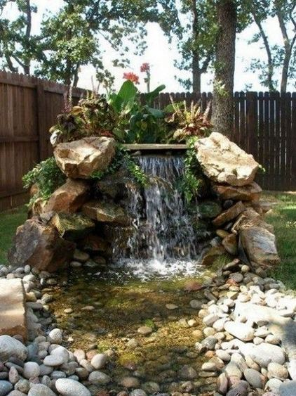 15 Relaxing Backyard Waterfalls Ideas For Your Outdoor 08