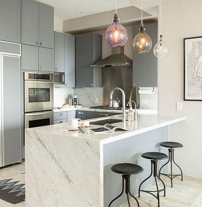 17 Elegant First Apartment Small Kitchen Bar Design Ideas 19