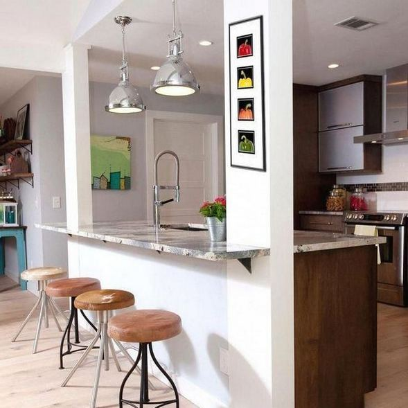 17 Elegant First Apartment Small Kitchen Bar Design Ideas 24