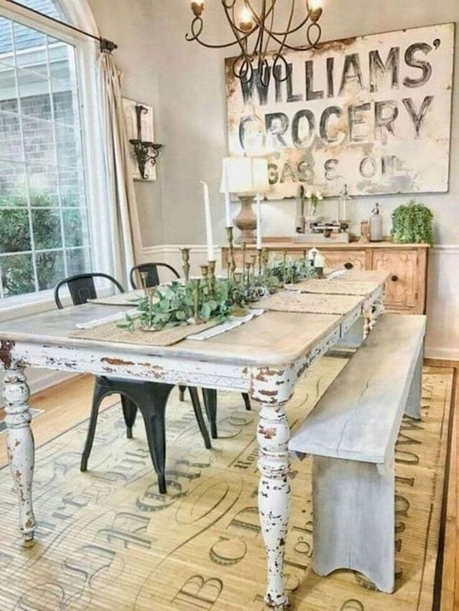 21 Vintage DIY Dining Table Design Ideas 20