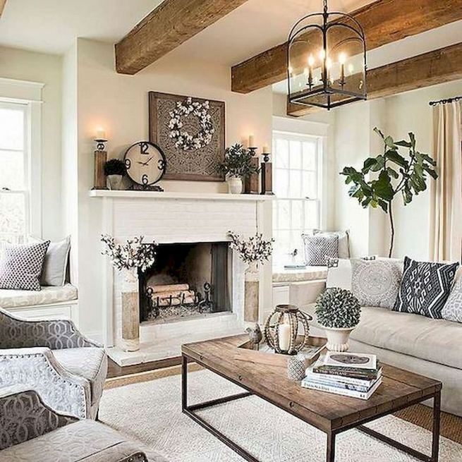21 Warm And Cozy Farmhouse Style Living Room Decor Ideas 11