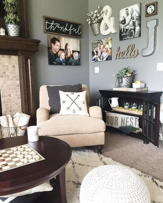 21 Warm And Cozy Farmhouse Style Living Room Decor Ideas 16