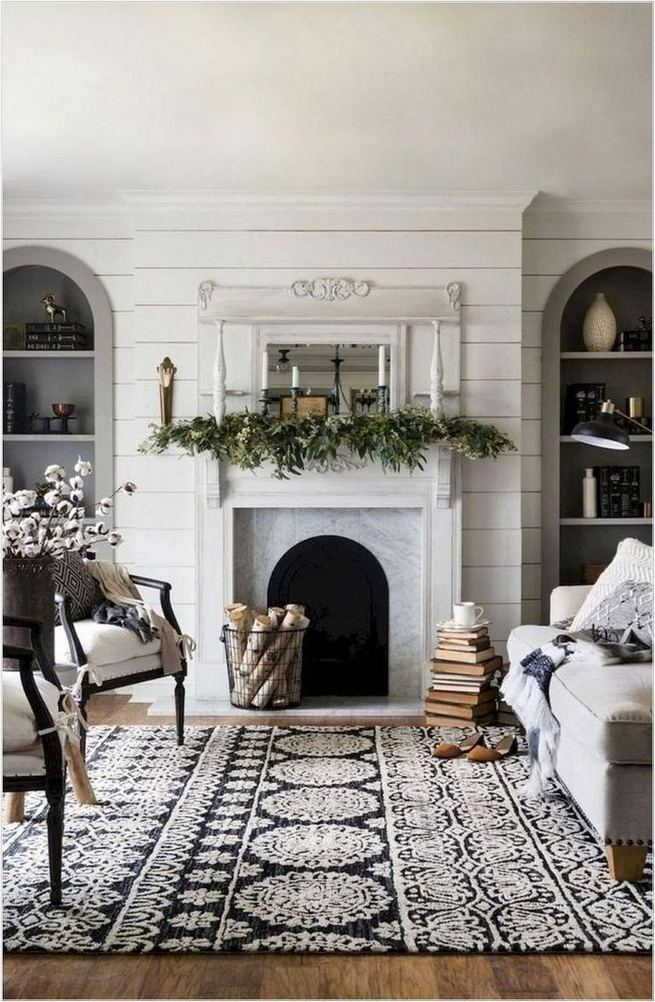 21 Warm And Cozy Farmhouse Style Living Room Decor Ideas 21