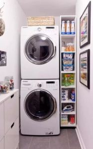 16 Brilliant Small Functional Laundry Room Decoration Ideas 16