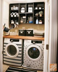 16 Brilliant Small Functional Laundry Room Decoration Ideas 20