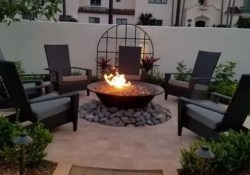 15 Awesome Winter Patio Decorating Ideas With Fire Pit – Making Your Patio Warm And Cozy 08