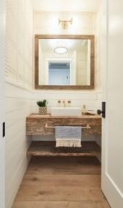 15 Models Bathroom Shelf With Industrial Farmhouse Towel Bar 17