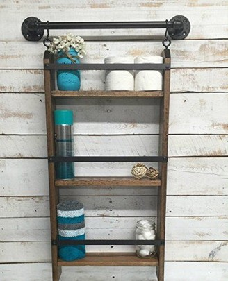 15 Models Bathroom Shelf With Industrial Farmhouse Towel Bar 22