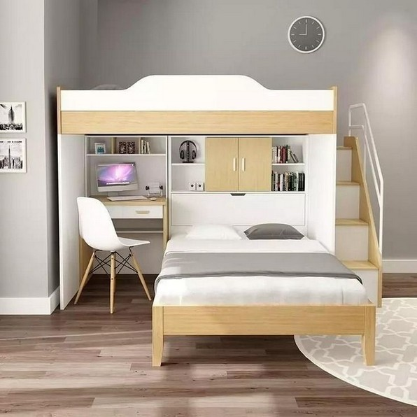 16 Bunk Beds Design Ideas With Desk Areas Help To Make Compact Bedrooms Bigger 02