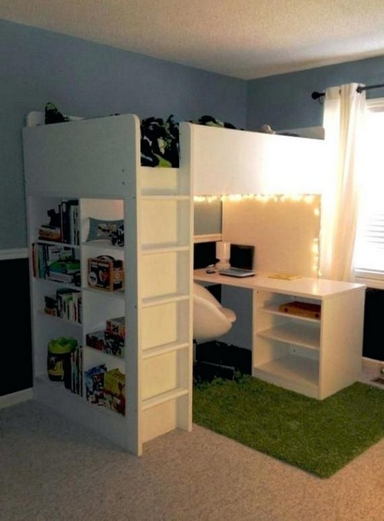 16 Bunk Beds Design Ideas With Desk Areas Help To Make Compact Bedrooms Bigger 13