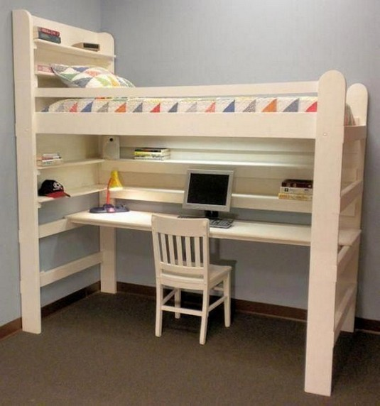 16 Bunk Beds Design Ideas With Desk Areas Help To Make Compact Bedrooms Bigger 17
