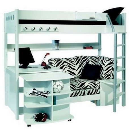 16 Bunk Beds Design Ideas With Desk Areas Help To Make Compact Bedrooms Bigger 19