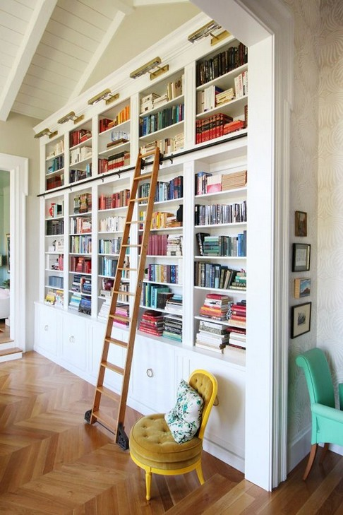 16 Fantastic Floor To Ceiling Bookshelves With Ladder 02