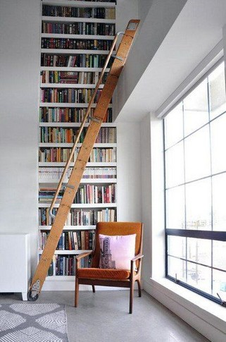 16 Fantastic Floor To Ceiling Bookshelves With Ladder 04