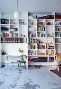 16 Fantastic Floor To Ceiling Bookshelves With Ladder 09