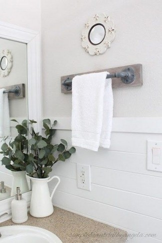 16 Models Bathroom Shelf With Industrial Farmhouse Towel Bar – Tips For Buying It 11