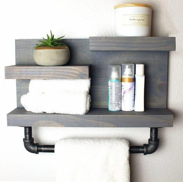 16 Models Bathroom Shelf With Industrial Farmhouse Towel Bar – Tips For Buying It 19