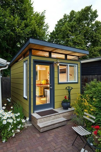 16 Modern Shed Design Looks Luxury To Complement Your Home 09
