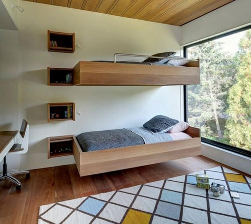17 Most Popular Floating Bunk Beds Design 11
