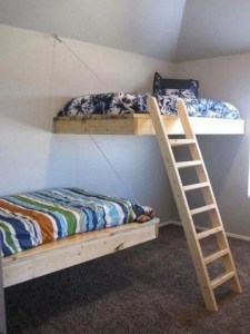 17 Most Popular Floating Bunk Beds Design 19