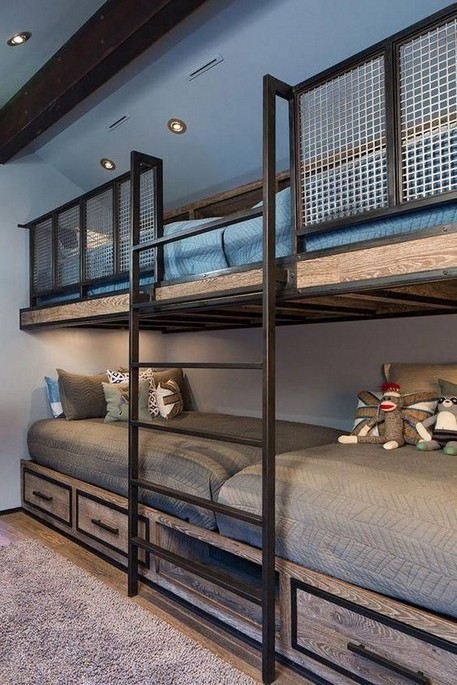 18 BBunk Bed Design Ideas With The Most Enthusiastic Desk In Interest 05