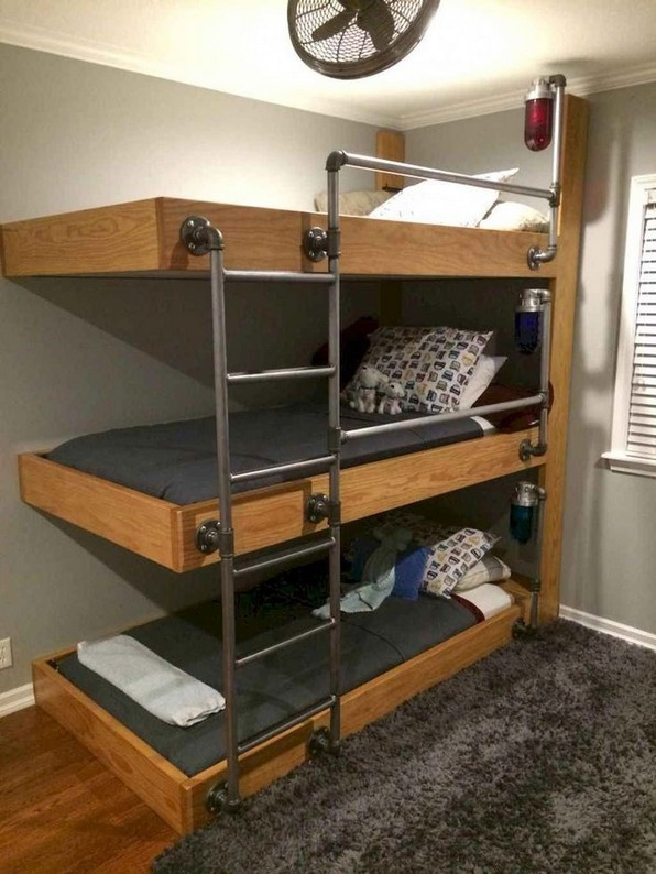 18 BBunk Bed Design Ideas With The Most Enthusiastic Desk In Interest 07