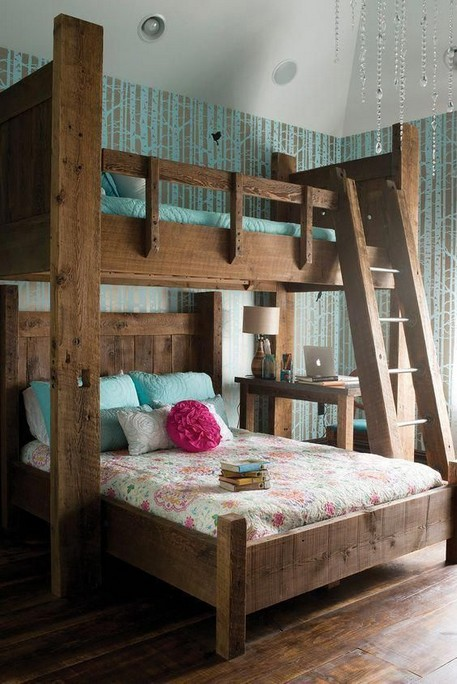 18 BBunk Bed Design Ideas With The Most Enthusiastic Desk In Interest 08
